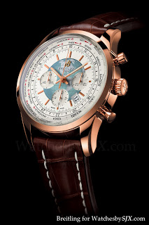 A well designed world timer from Breitling, the Transocean