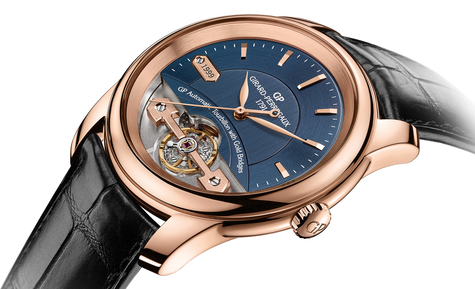 Girard perregaux introduces the place girardet with a single gold bridge and no tourbillon for Girard perregaux