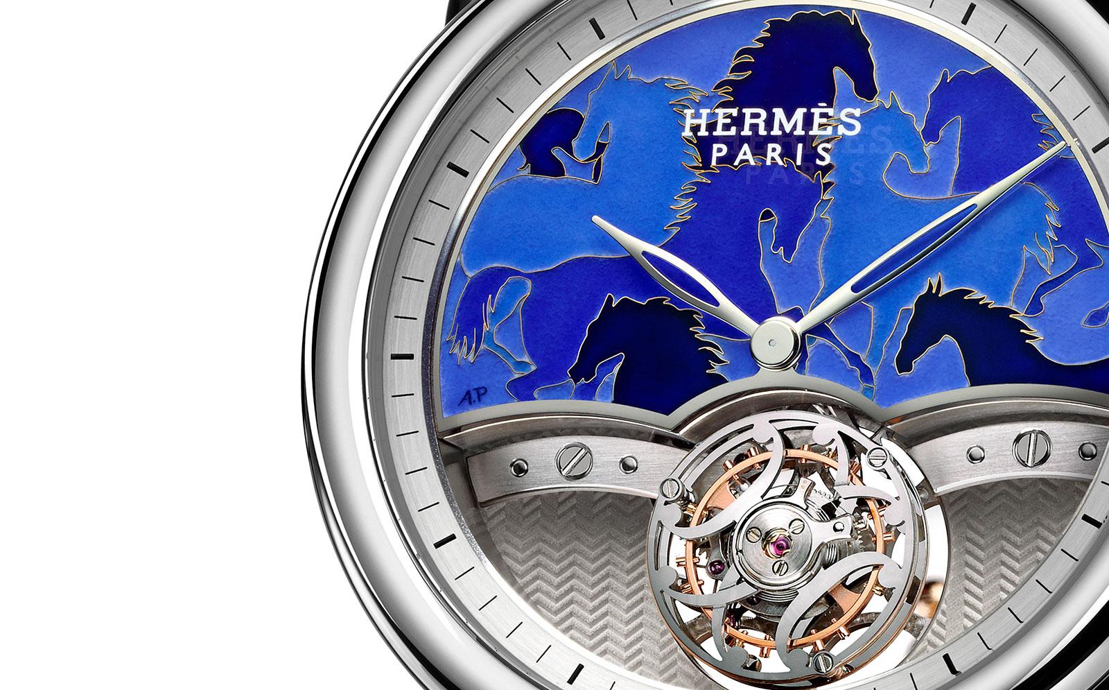 Hermes-arceau-lift-tourbillon-cheveaux-camouflate-Anita-Porchet