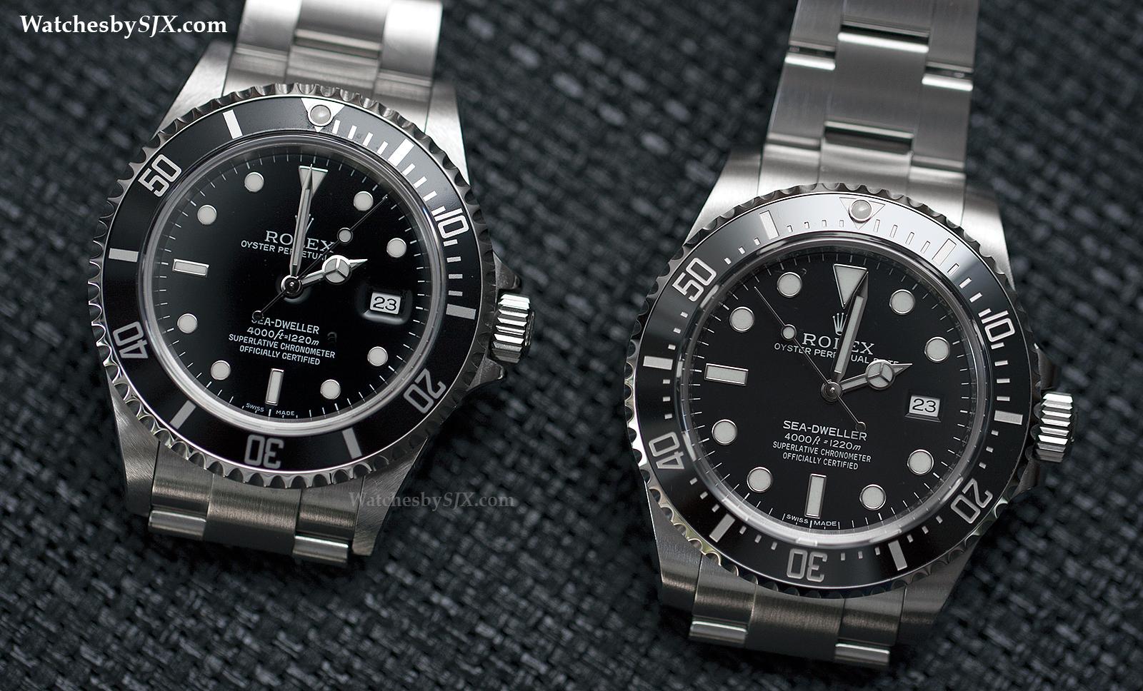 COMPARISON Rolex Sea,Dweller 4000 Refs. 16600 vs. 116600
