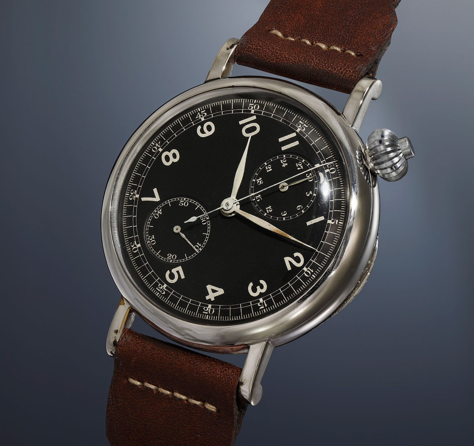 Longines A7 chronograph Phillips Geneva auction