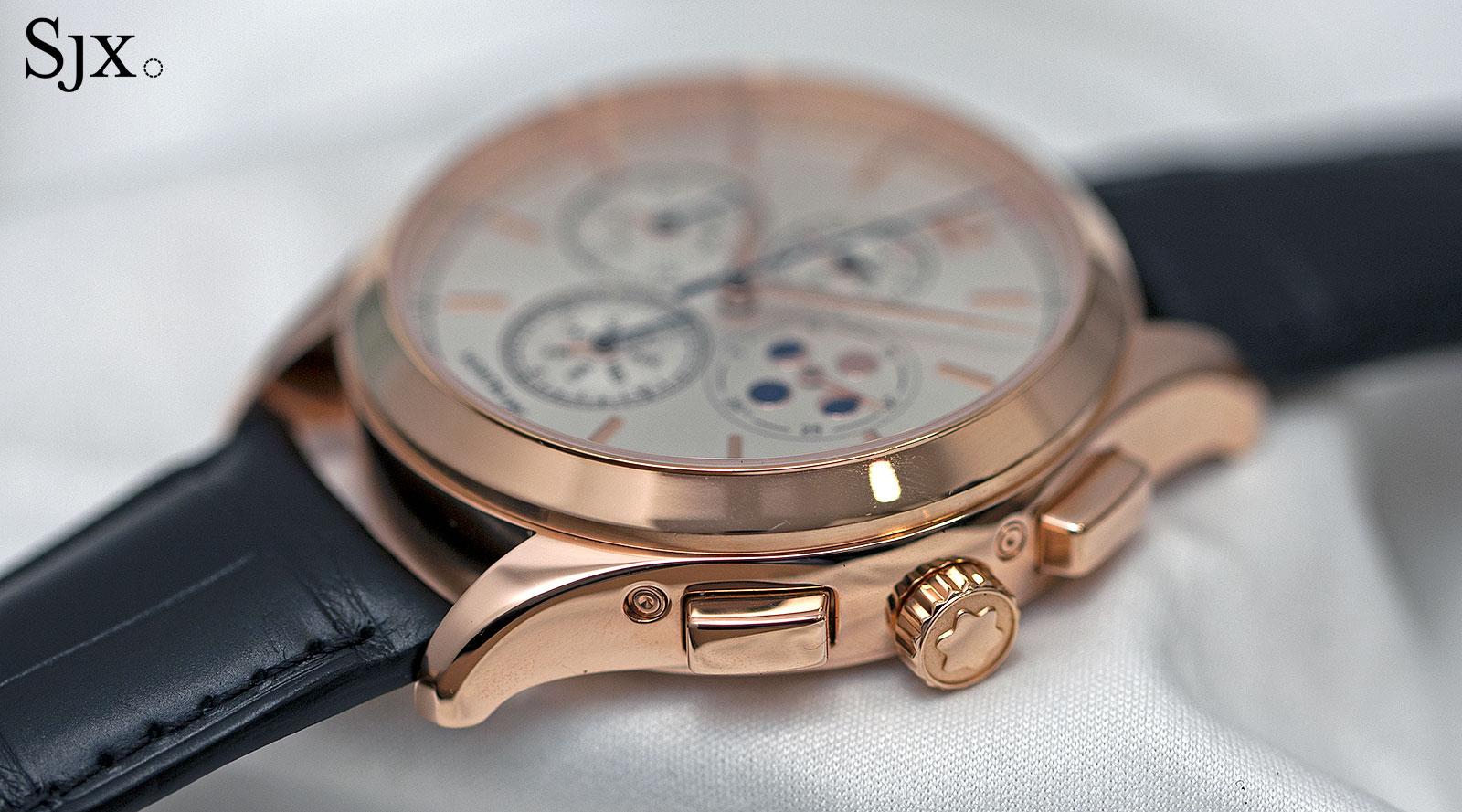 Montblanc Heritage Chronométrie Chronograph Quantième Annuel rose gold side
