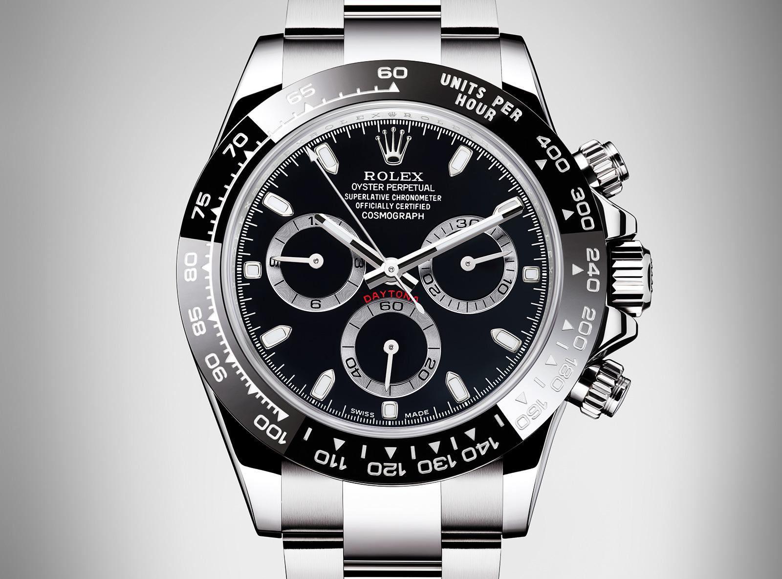 Rolex Daytona Steel Ceramic bezel black dial