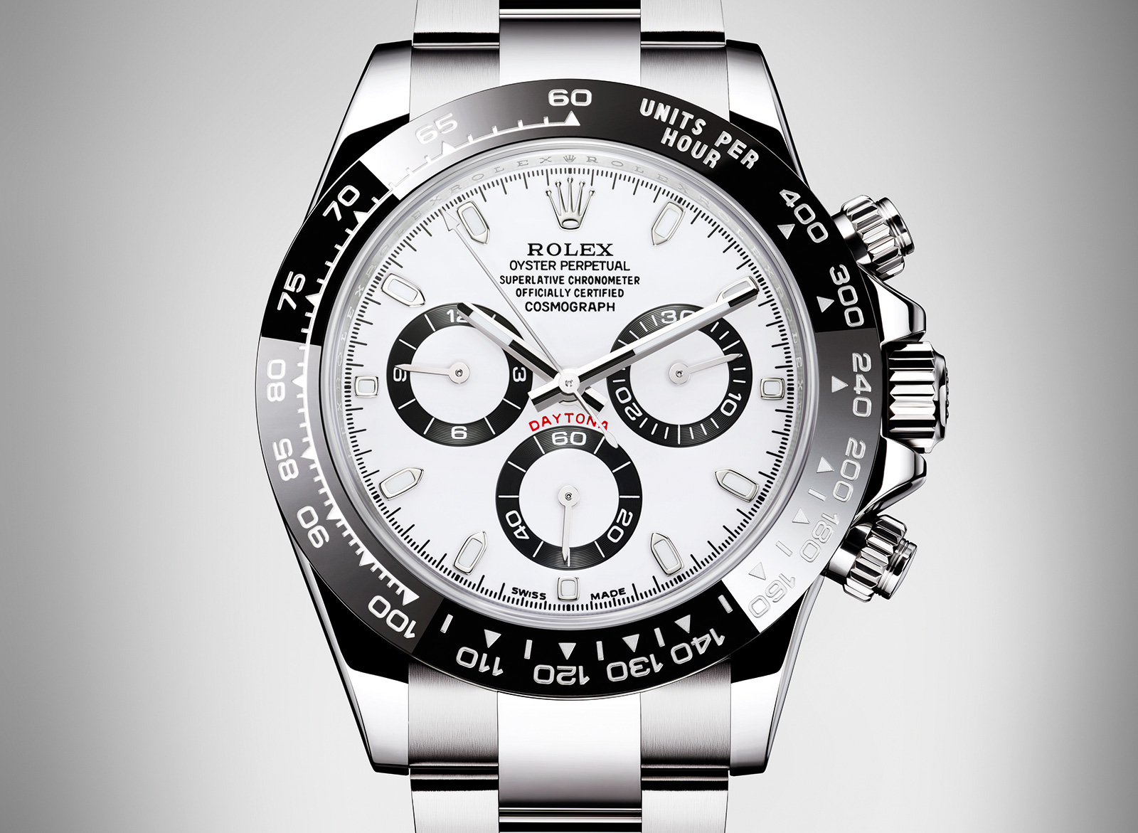 Rolex Daytona Steel Ceramic white dial
