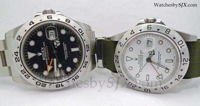 Rolex-Explorer-II-comparison-216570-and-165701