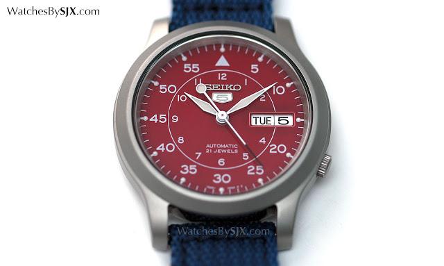 Seiko-5-Military-Amazon-Edition-Red-Dial