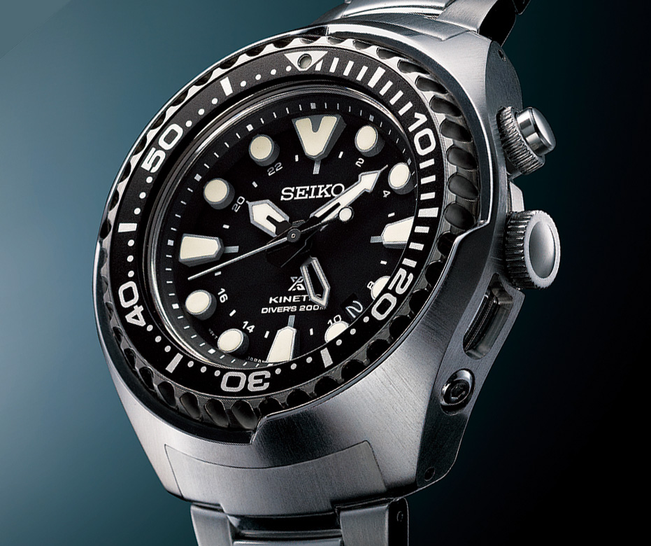 "Baselworld 2014  Presenting the Seiko Prospex Kinetic GMT ""Tuna ... 8bc54b335"