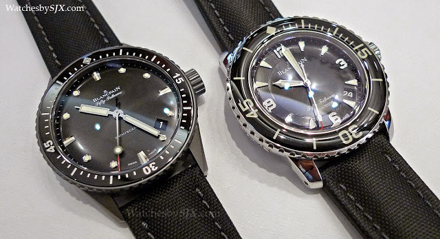 Blancpain Fifty Fathoms >> Face-off: Comparing the Blancpain Bathyscaphe and Fifty Fathoms | SJX Watches