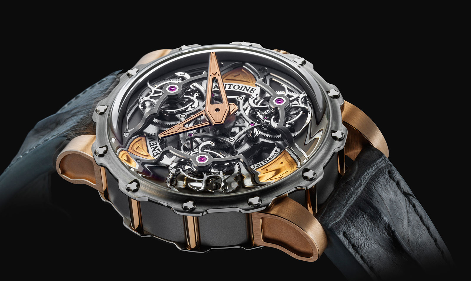 Antoine Preziuso Tourbillon of Tourbillons gold