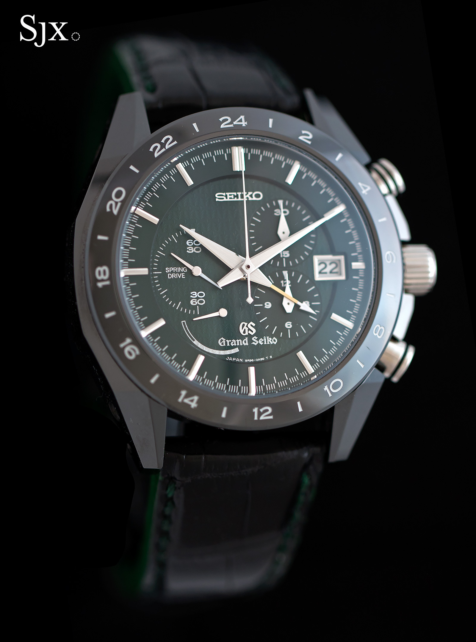 Grand Seiko Black Ceramic Spring Drive Chronograph SBGC017 1