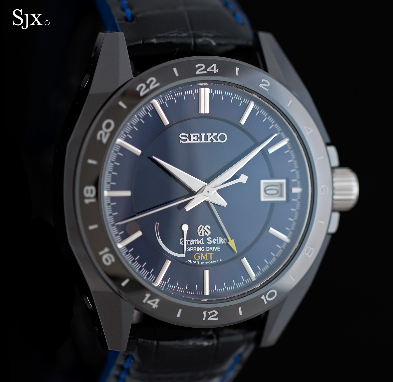 Grand Seiko Black Ceramic Spring Drive GMT SBGE039 1