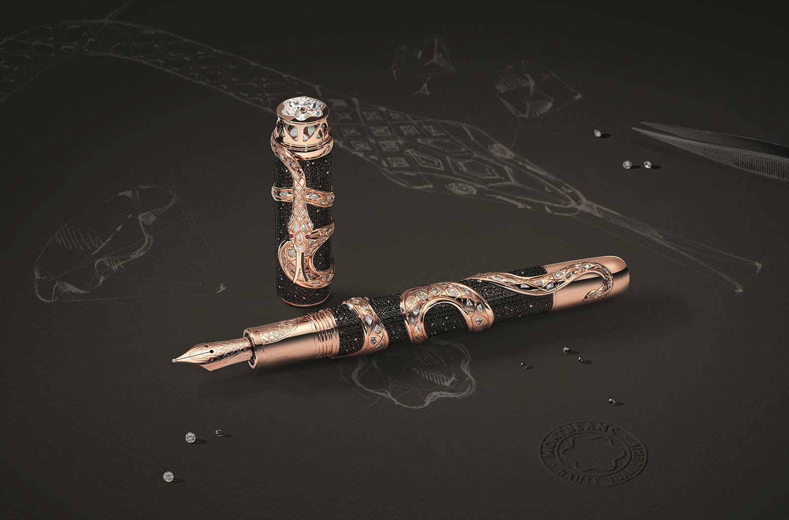 Montblanc Montblanc Heritage Collection, Rouge & Noir, The Ultimate Serpent Limited Edition 1