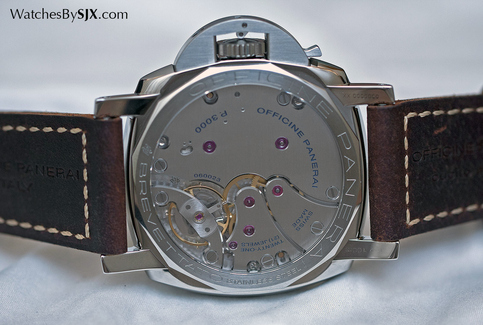 Panerai Luminor 1950 3 Days Acciaio PAM663 movement