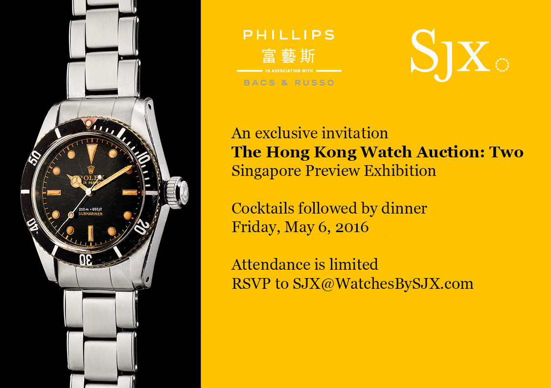 Phillips Hong Kong auction 2 dinner invite
