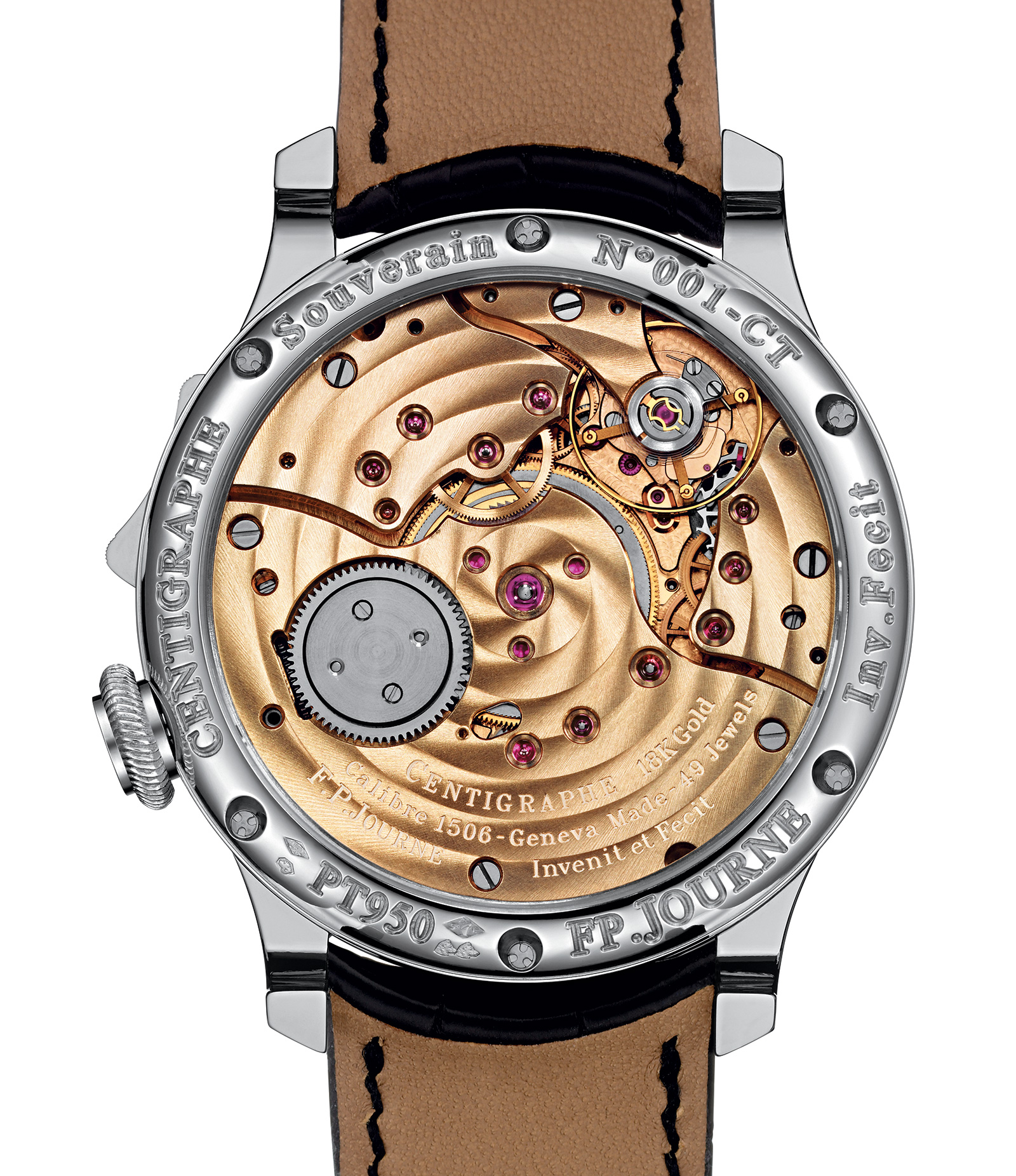 FP Journe Centigraphe platinum back