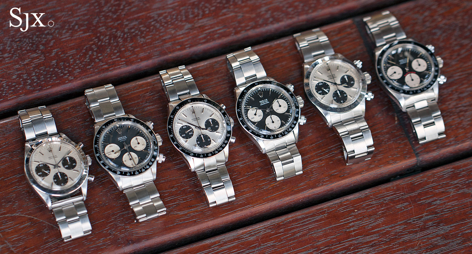 Rolex vintage Daytona line-up