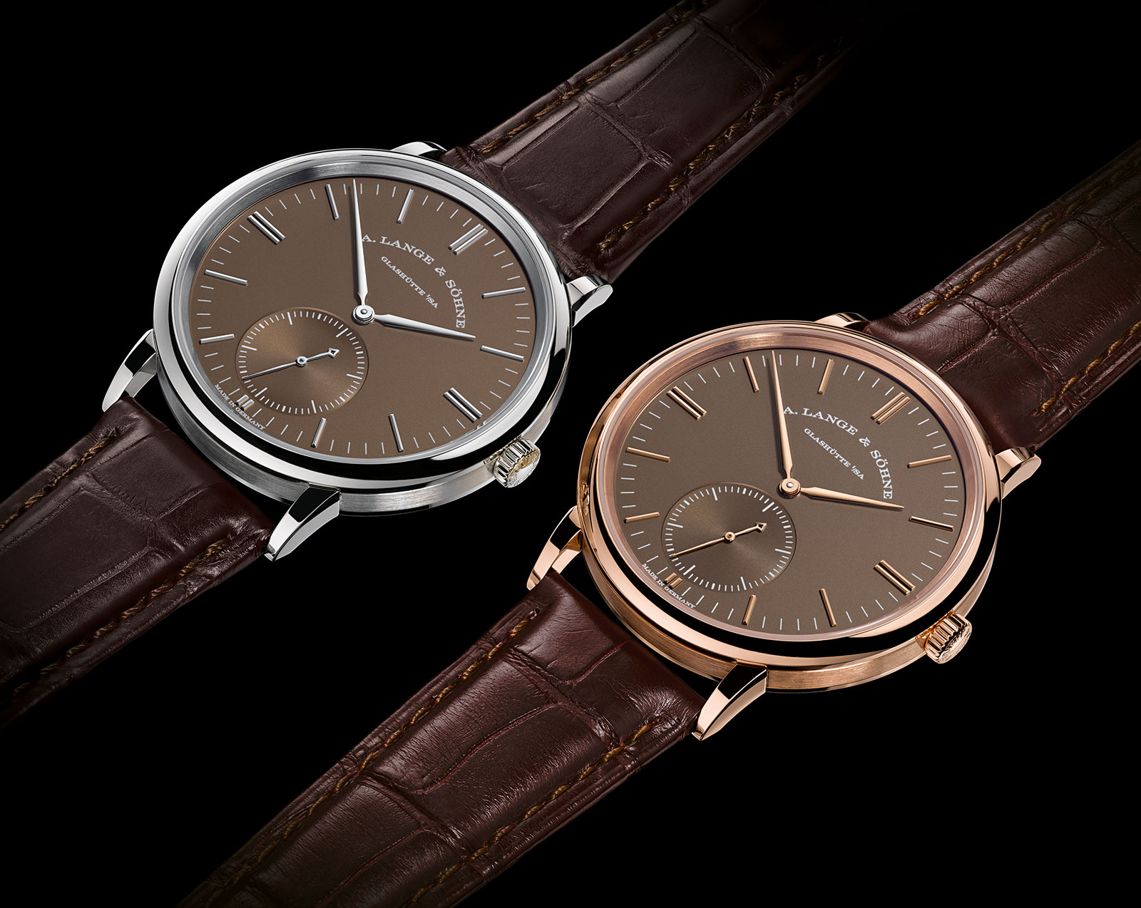 Lange Saxonia Automatic terra-brown dial 1