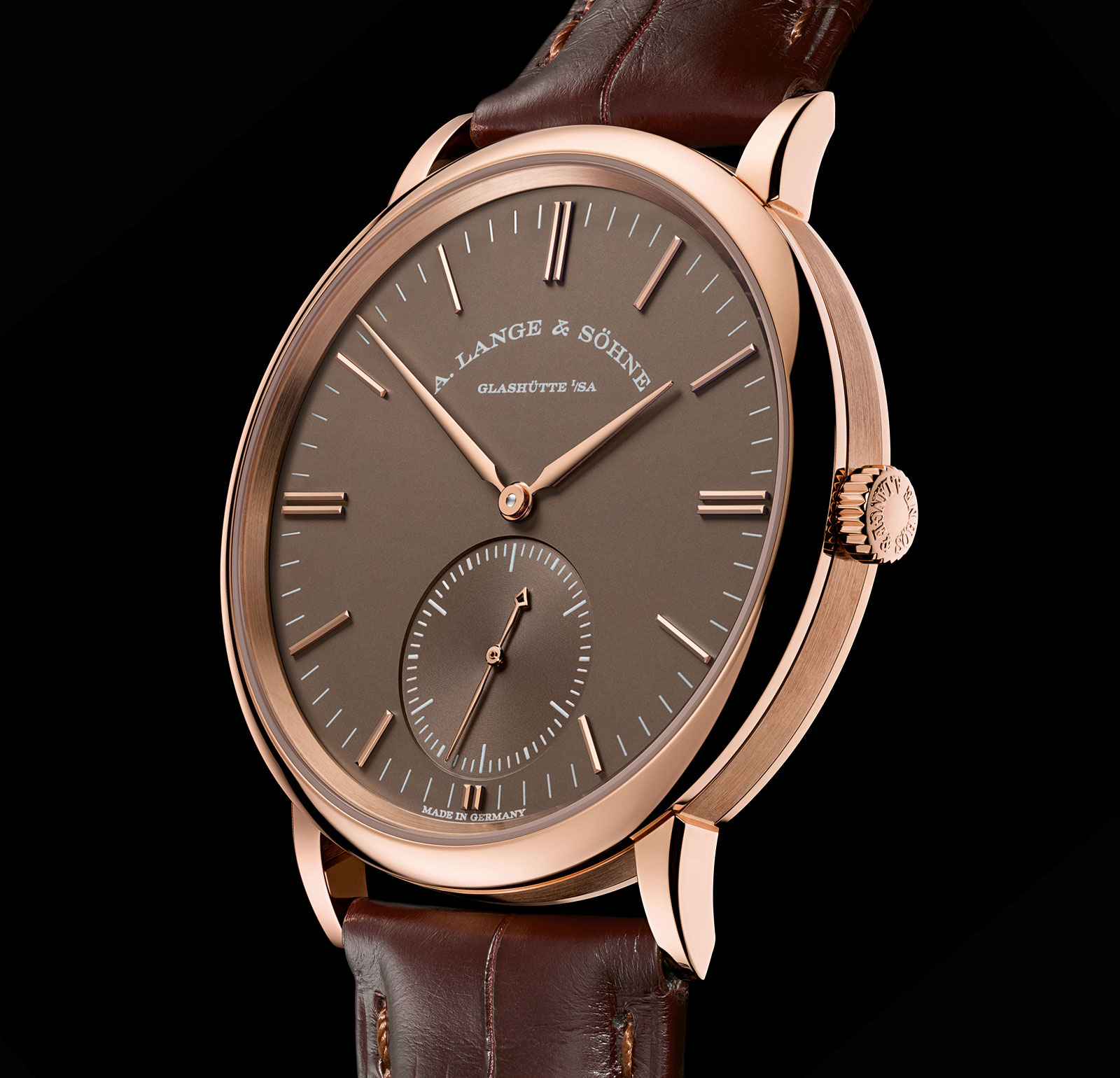 Lange Saxonia Automatic terra-brown dial 3