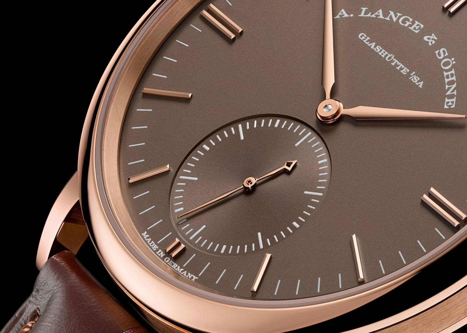 Lange Saxonia Automatic terra-brown dial 4