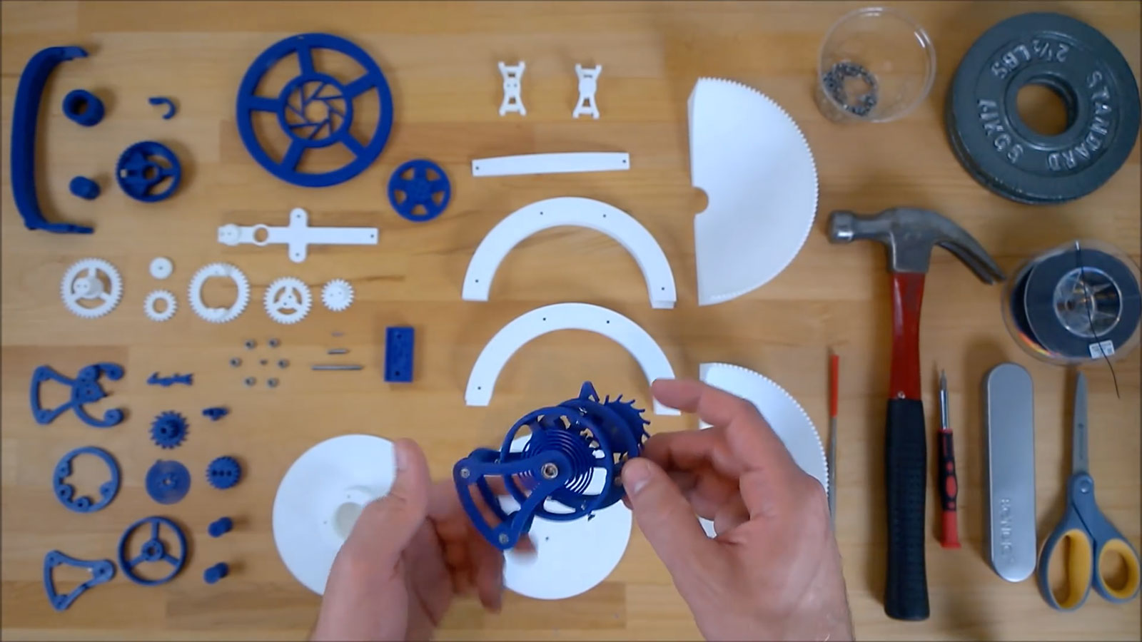 Clockwerk triple axis tourbillon 3D printed