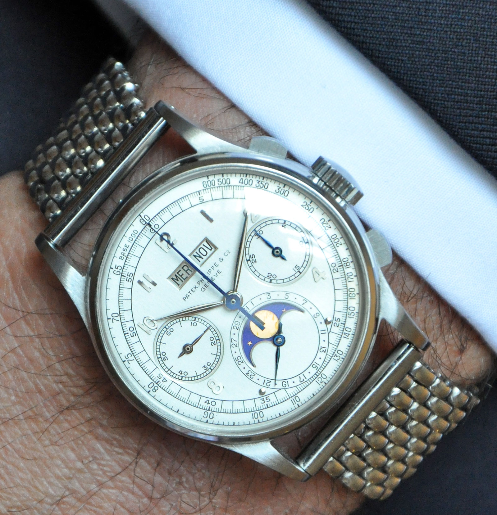 Patek Philippe 1518 stainless steel Phillips