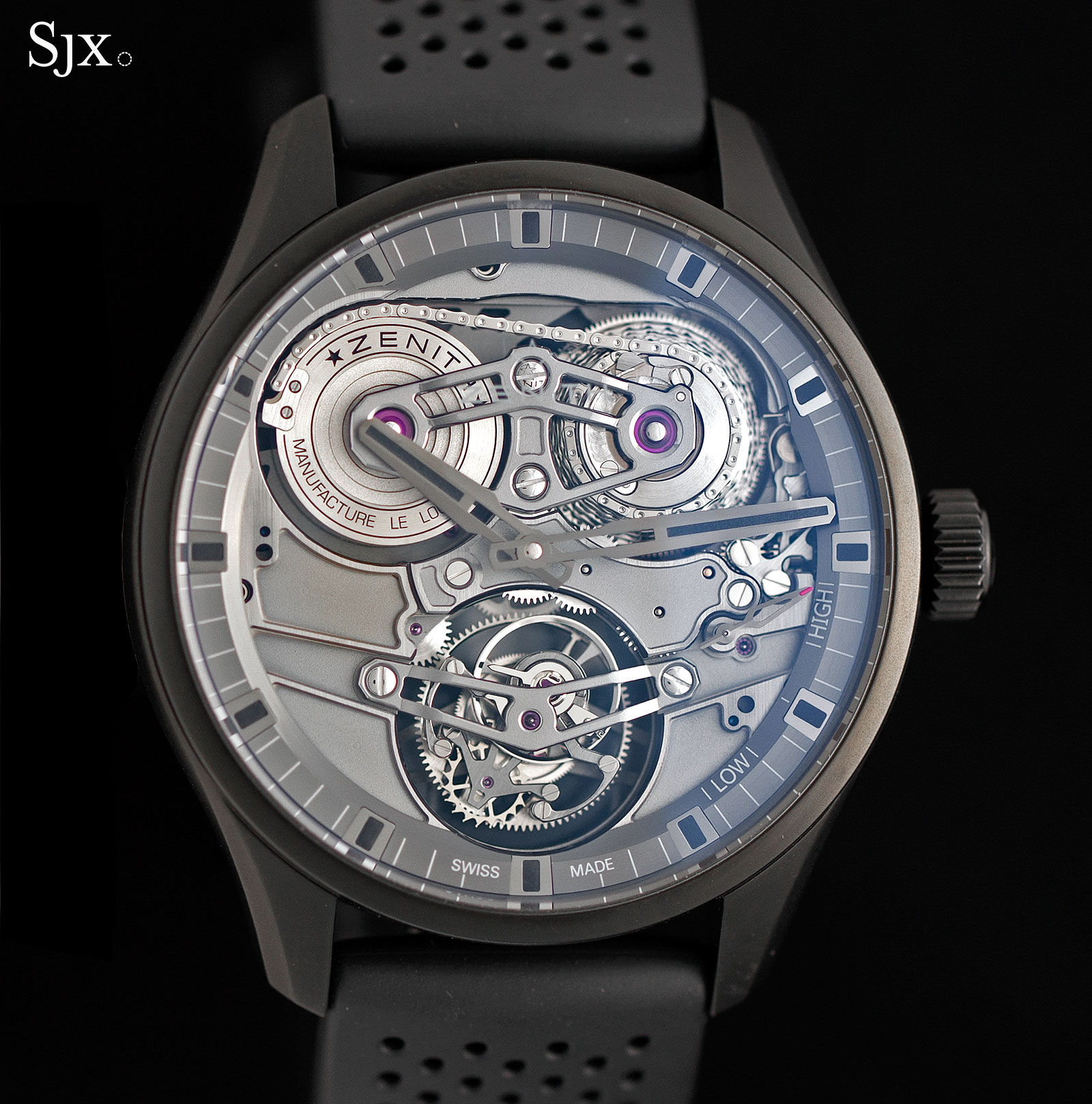 Zenith Academy Georges Favre-Jacot Tourbillon ceramic 2