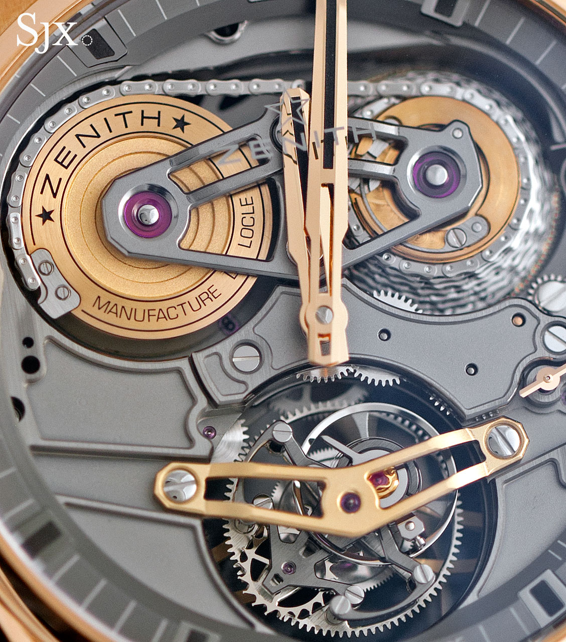 Zenith Academy Georges Favre-Jacot Tourbillon rose gold  2