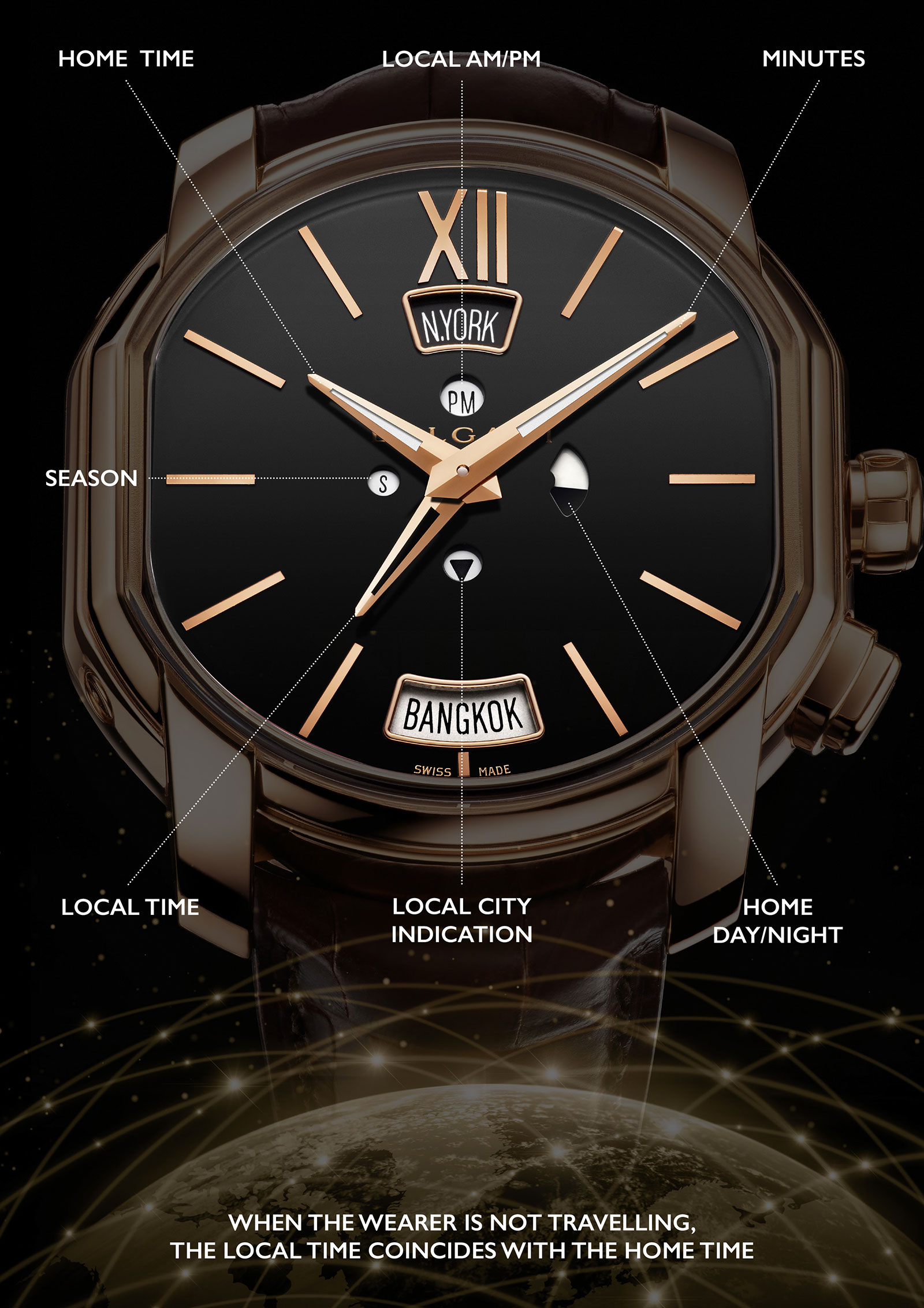 Bulgari Hora Domus time zone