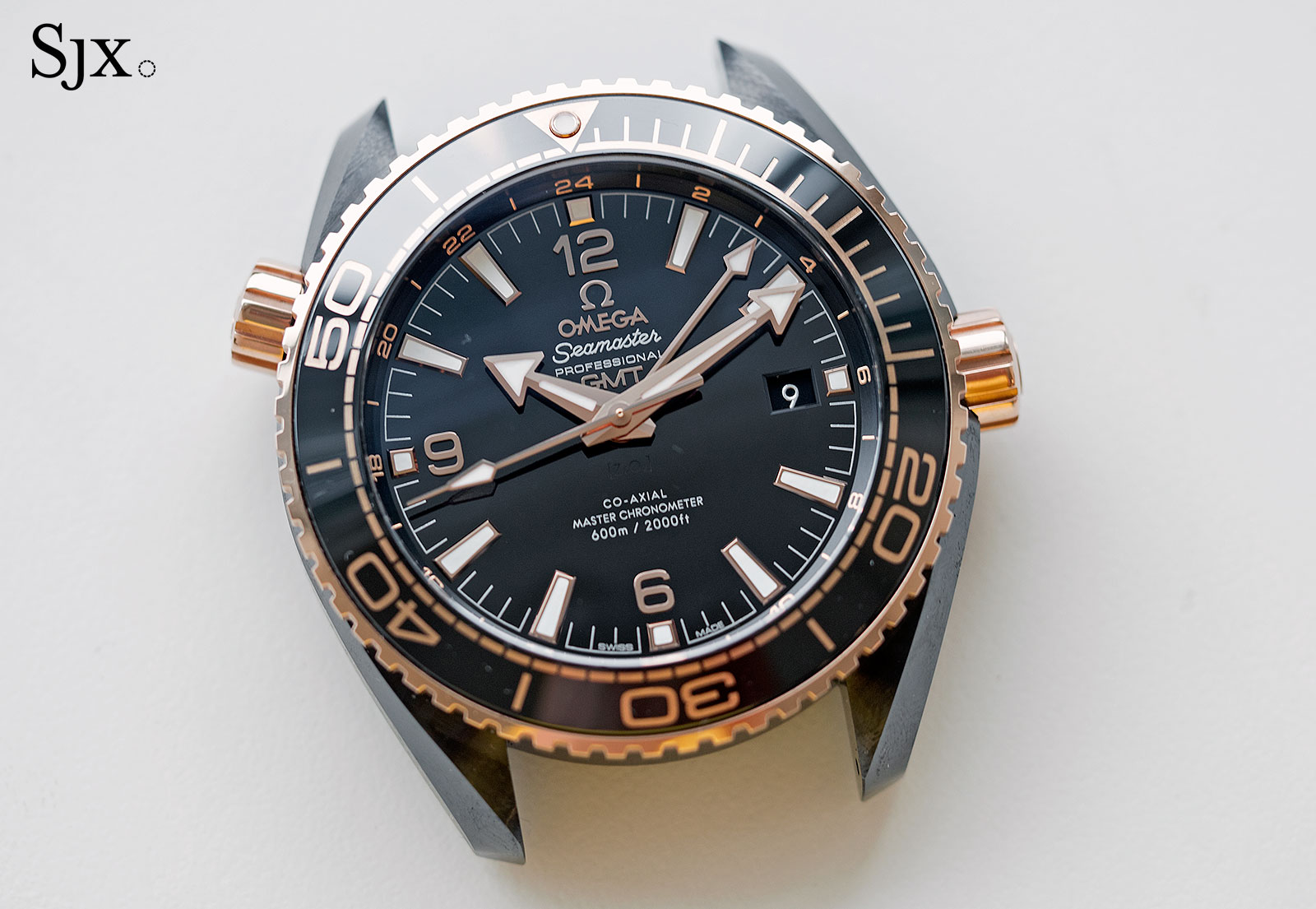Omega Seamaster Planet Ocean Deep Black Sedna Gold 1