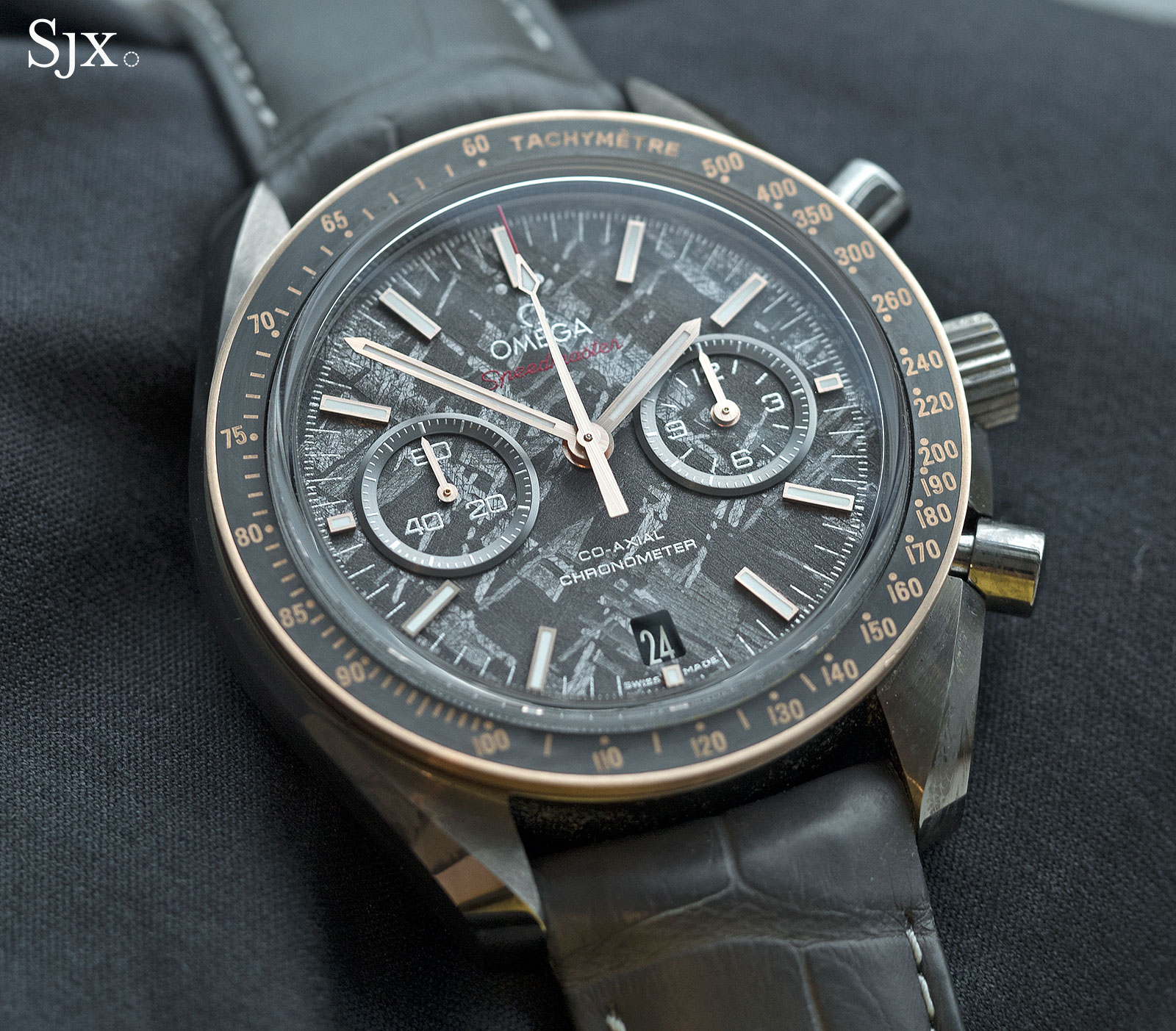 Omega Speedmaster Grey Side of the Moon Meteorite Ceramic 1