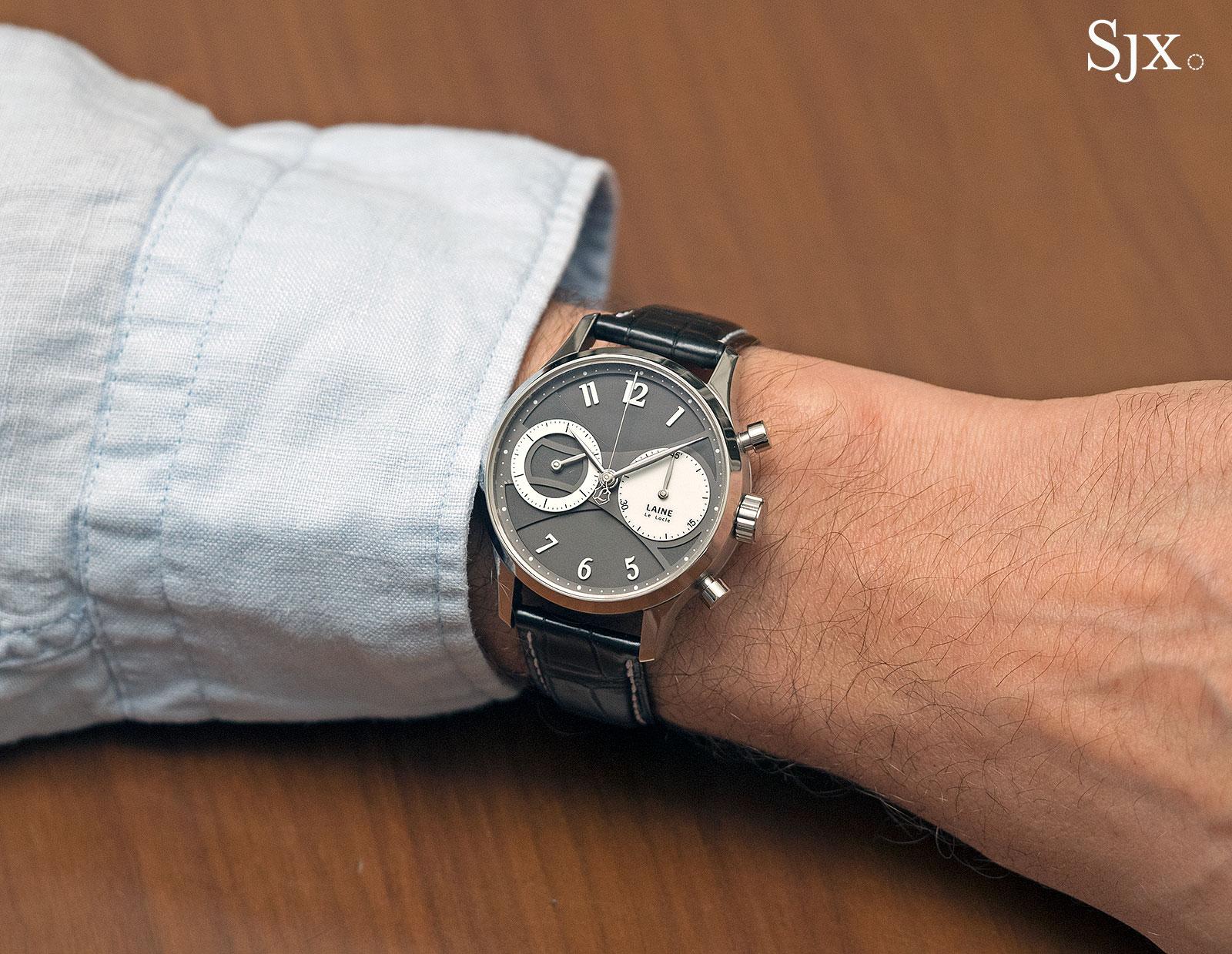 Torsti Laine chronograph wrist shot