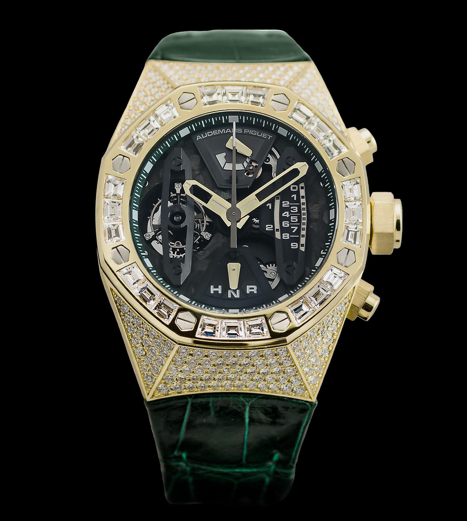 Audemars Piguet Royal Oak Concept Tourbillon Chronograph yellow gold diamond pave 1
