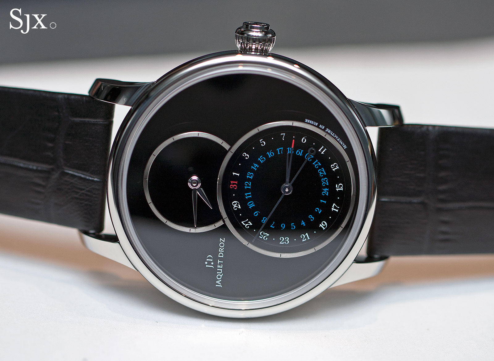 Jaquet Droz Grande Seconde Dual Time steel onyx 1