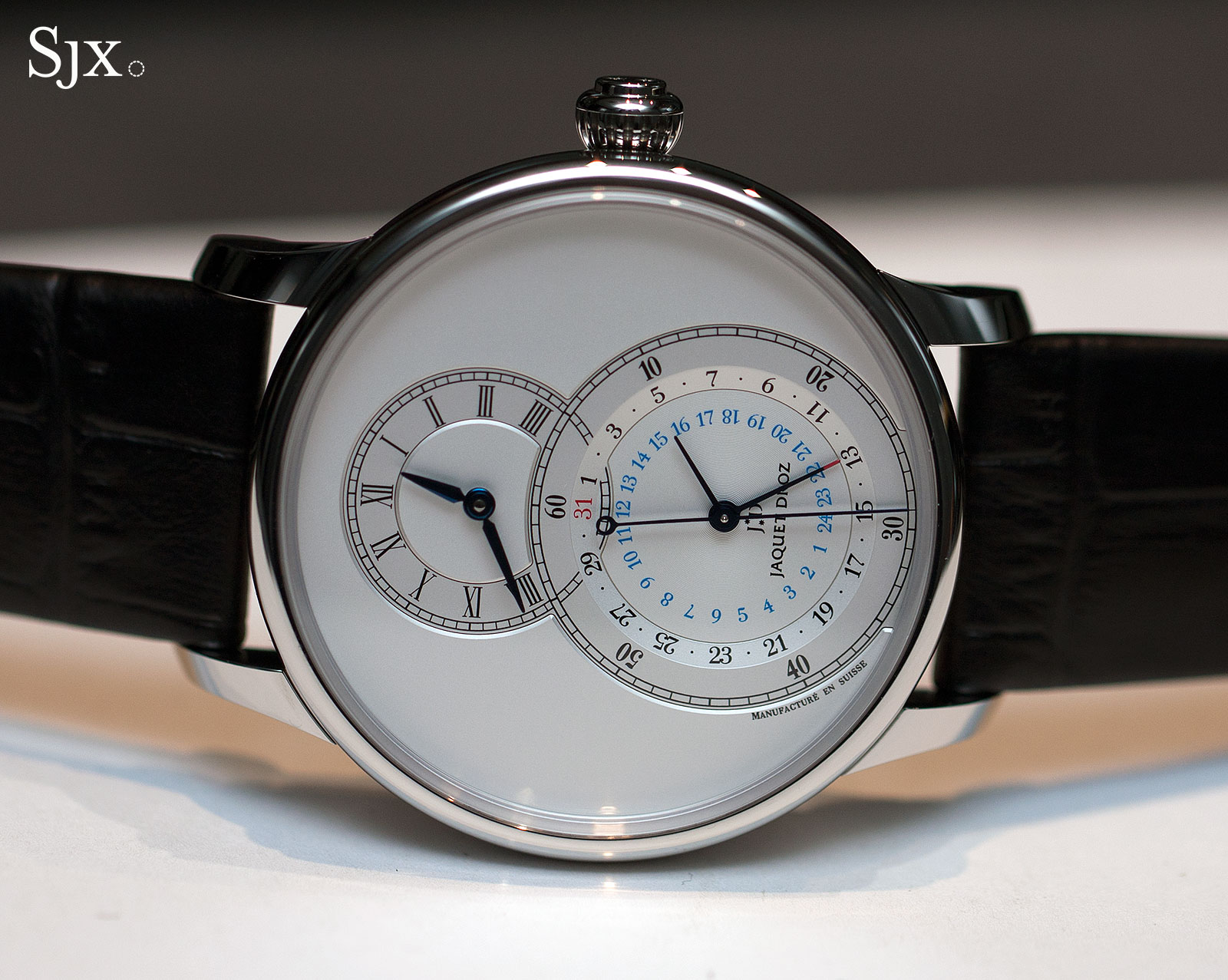 Jaquet Droz Grande Seconde Dual Time steel silver 1