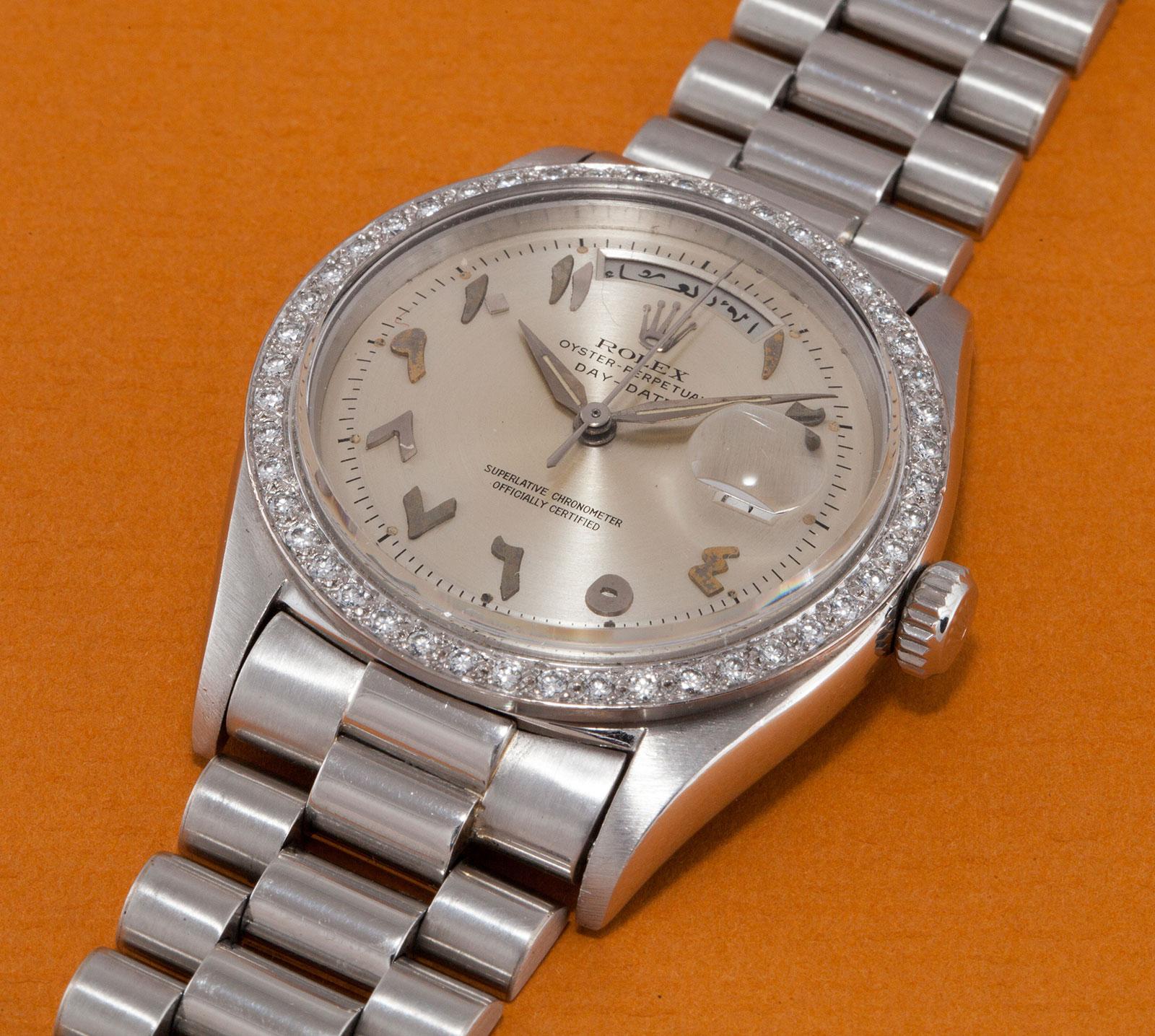 Rolex Day-Date 1804 platinum Scheherazade 1