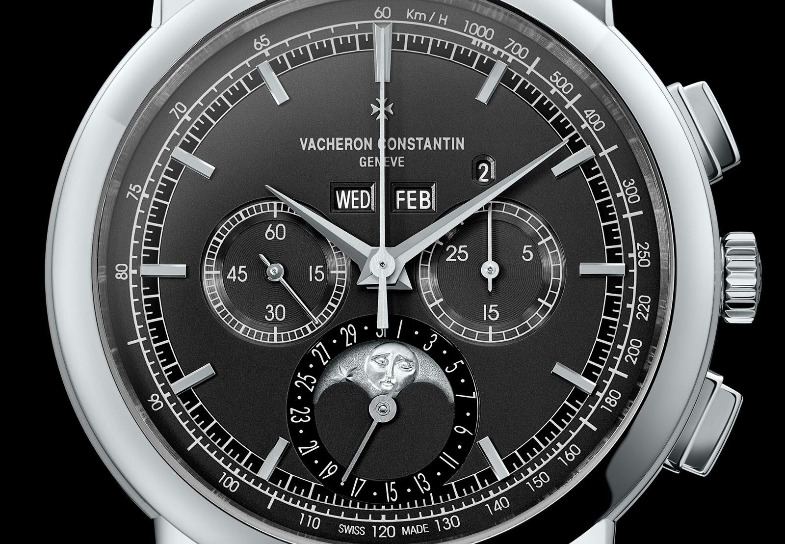 Vacheron Constantin Traditionnelle chronograph perpetual calendar platinum black 3