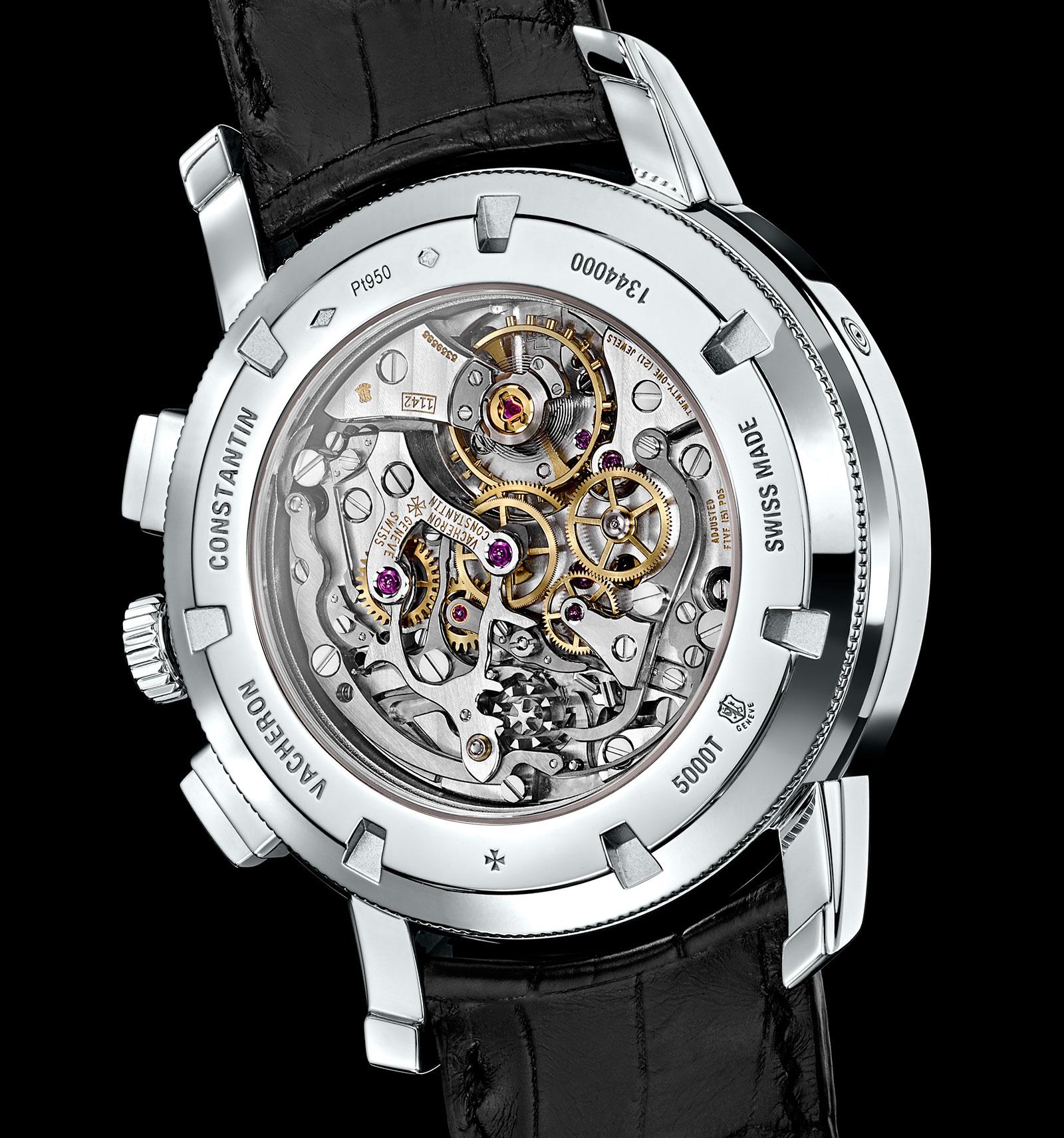 Vacheron Constantin Traditionnelle chronograph perpetual calendar platinum black 4
