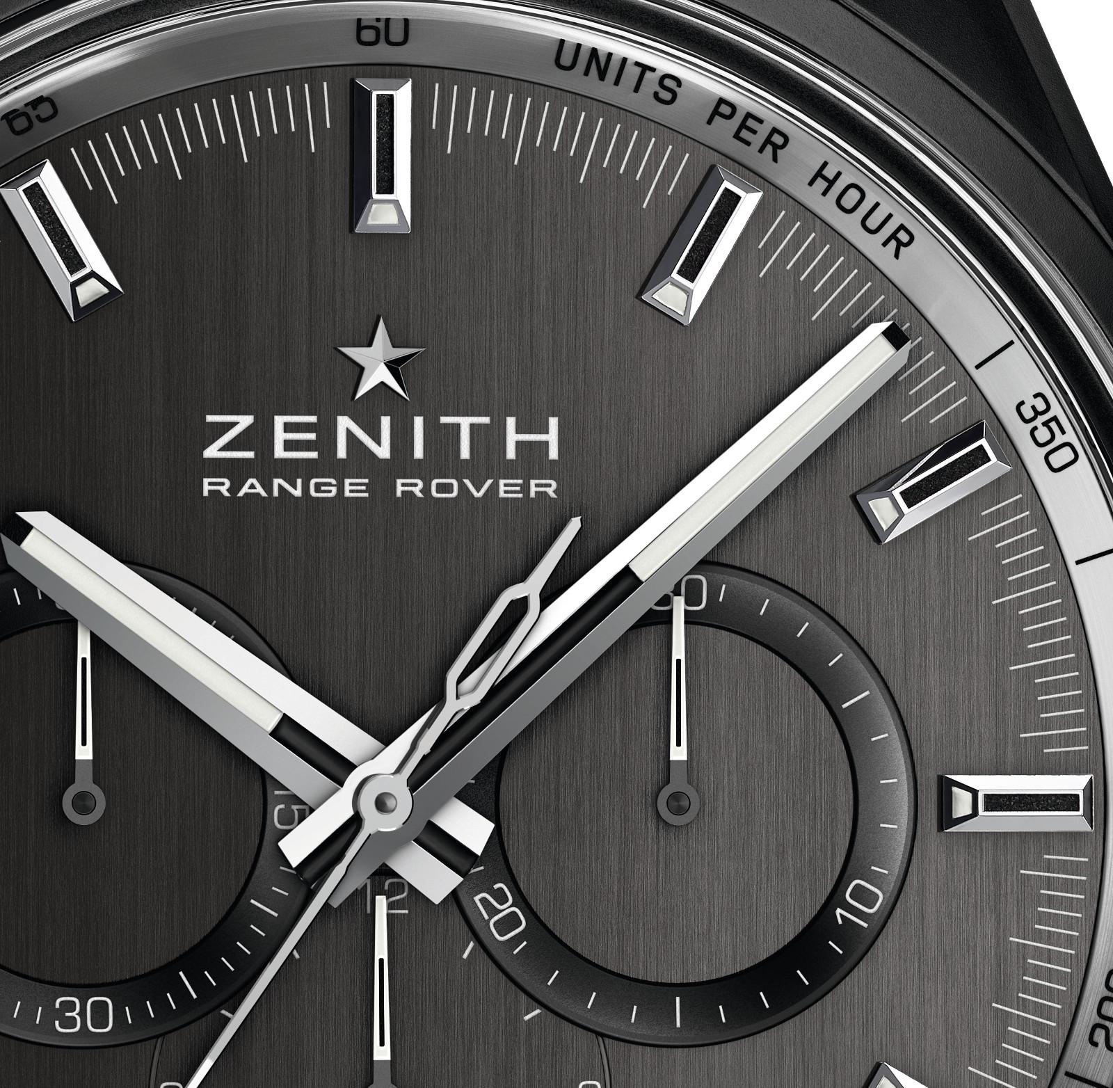 Zenith El Primero Range Rover Special Edition dial