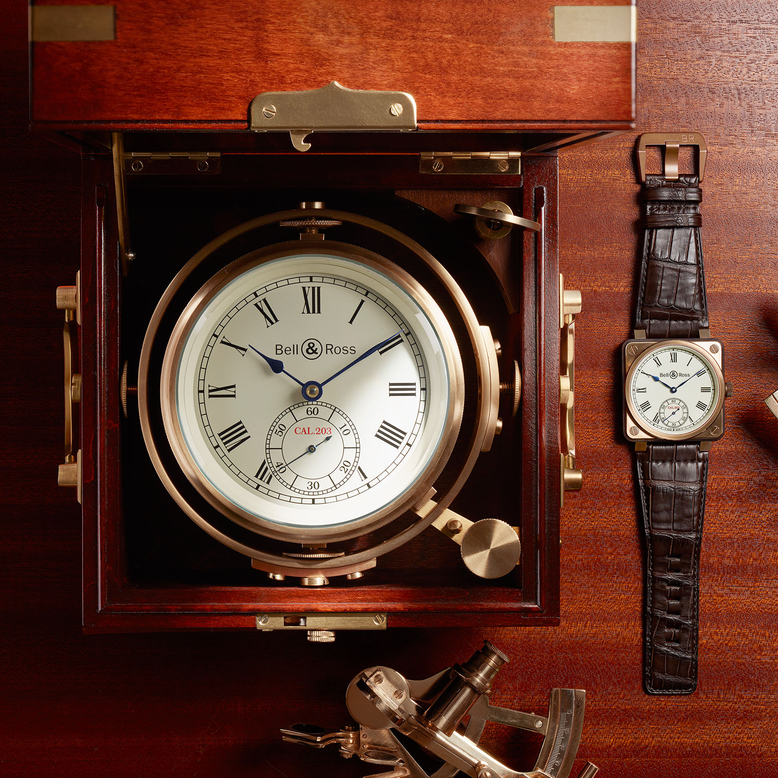 Bell & Ross Introduces Marine Chronometer-Inspired Aviator's