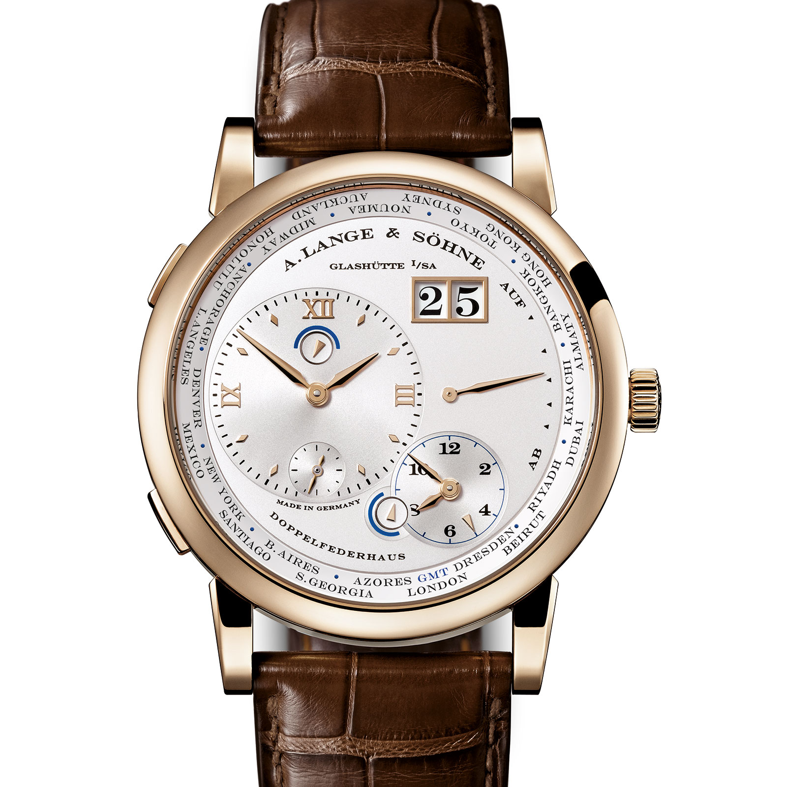 Lange 1 Time Zone Honey Gold 2