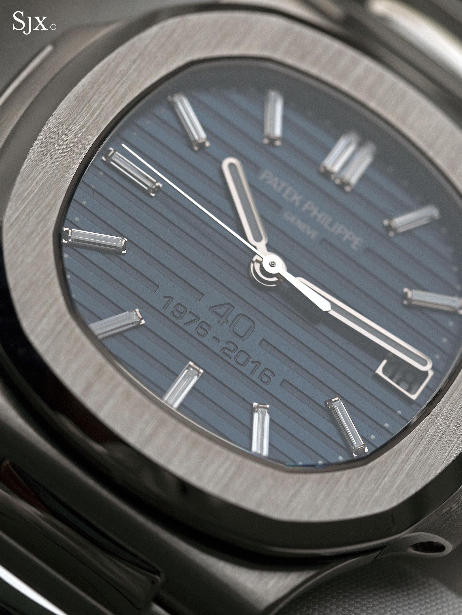 Patek Philippe Nautilus Ref. 5711-1P 40th Anniversary platinum 11