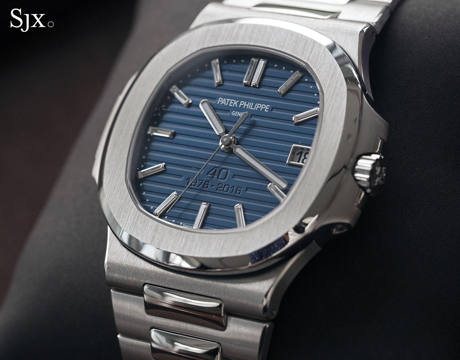 Patek Philippe Nautilus Ref. 5711-1P 40th Anniversary platinum 16