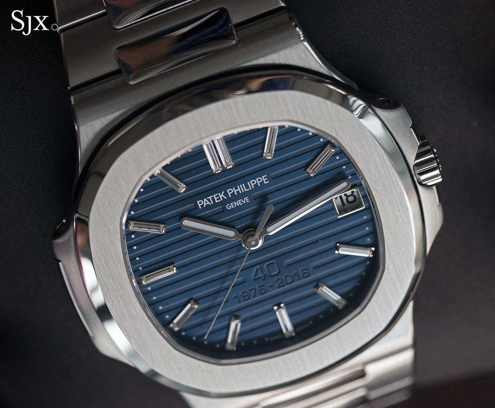 Patek Philippe Nautilus Ref. 5711-1P 40th Anniversary platinum 9