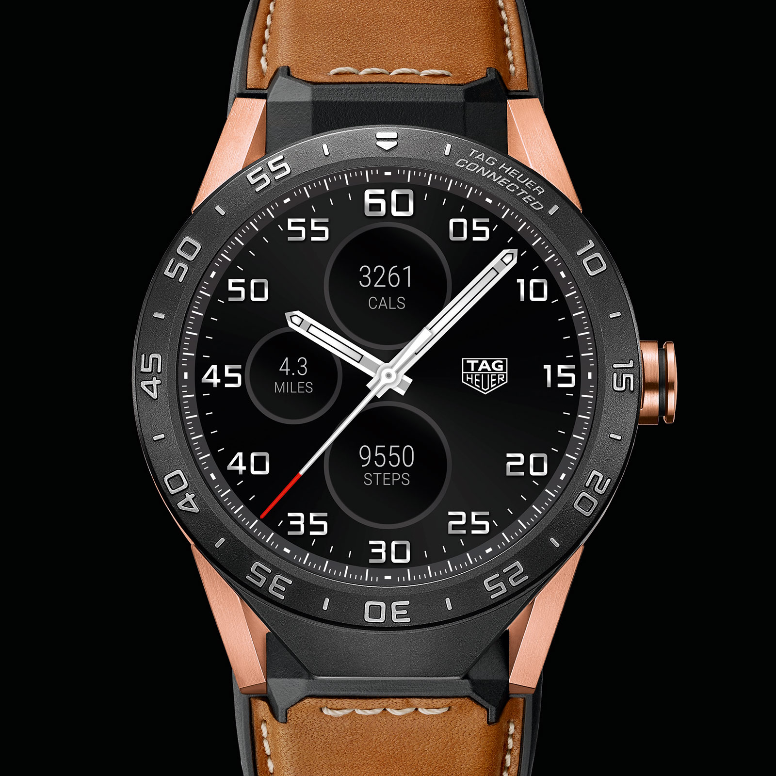 TAG Heuer Connected rose gold smart watch 1