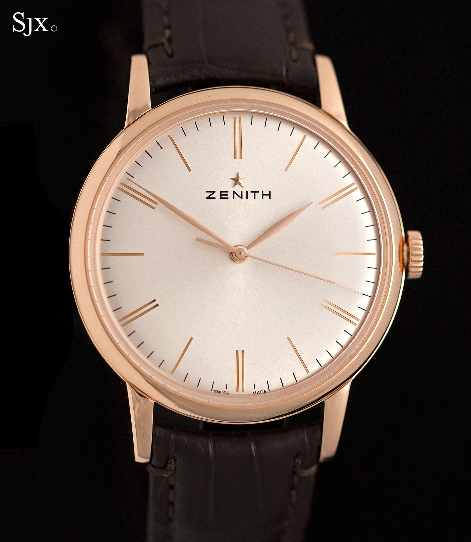 Zenith Elite 6150 rose gold 1