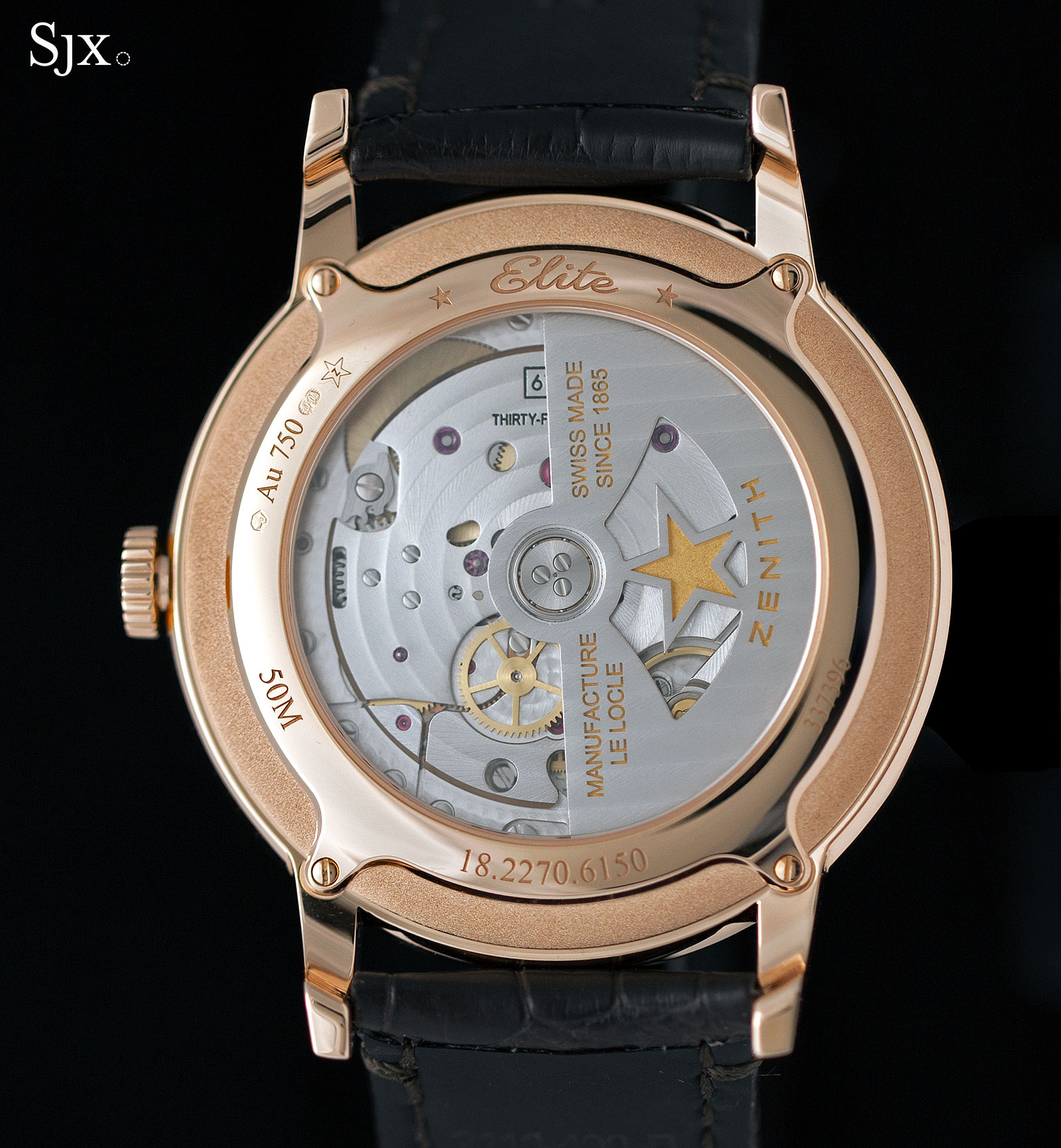 Zenith Elite 6150 rose gold 2