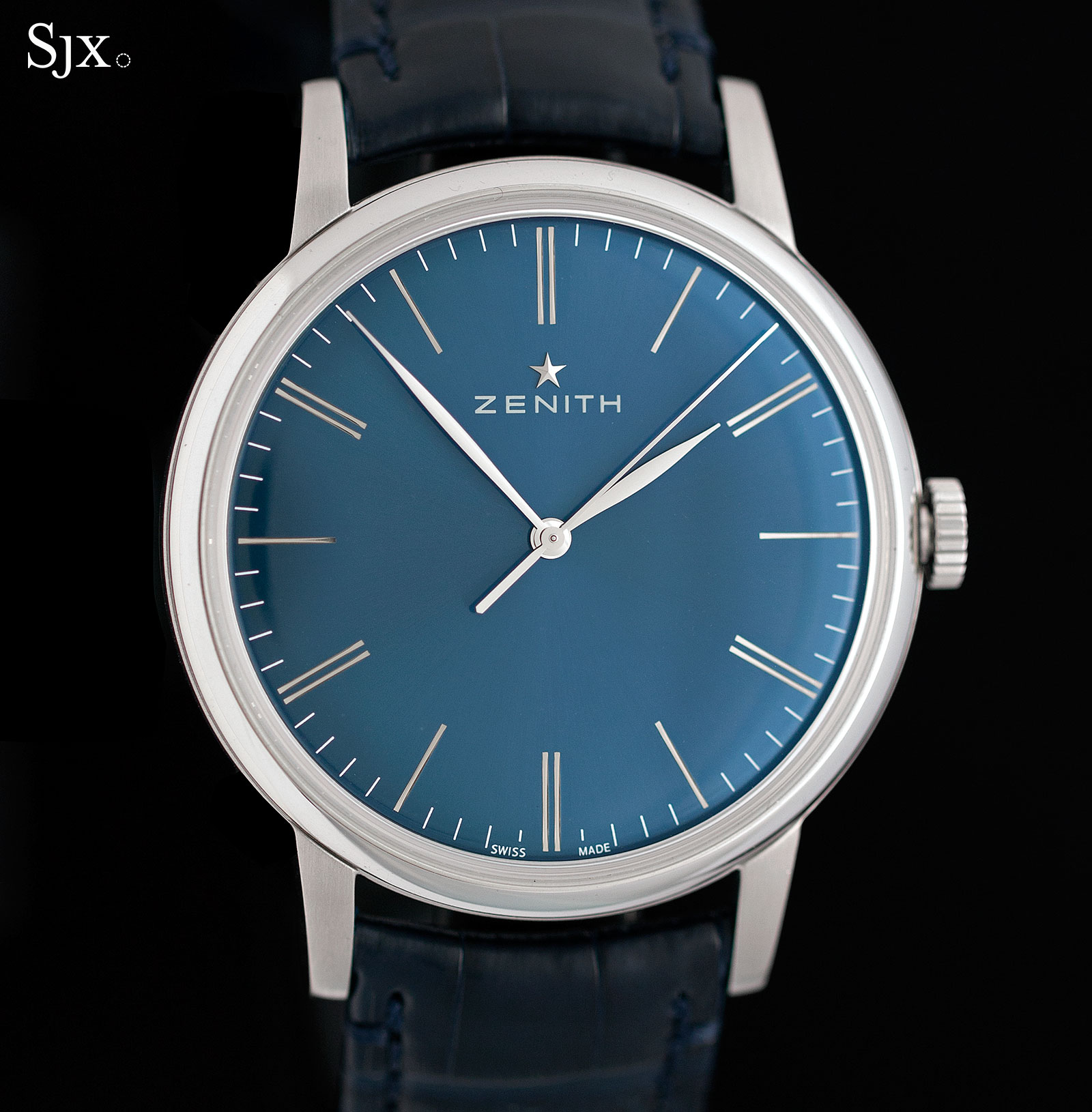 Zenith Elite 6150 steel blue dial 1