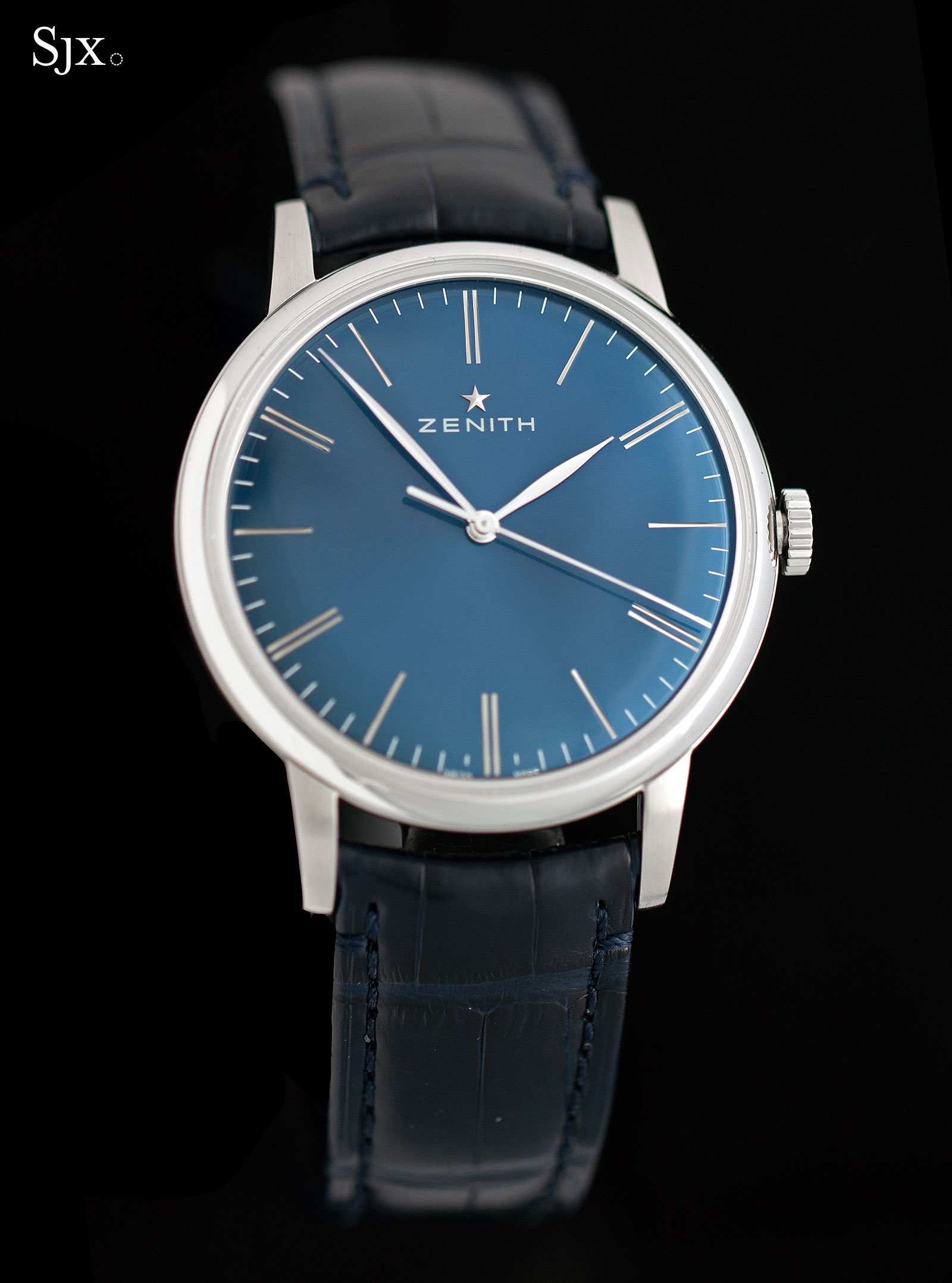 Zenith Elite 6150 steel blue dial 2