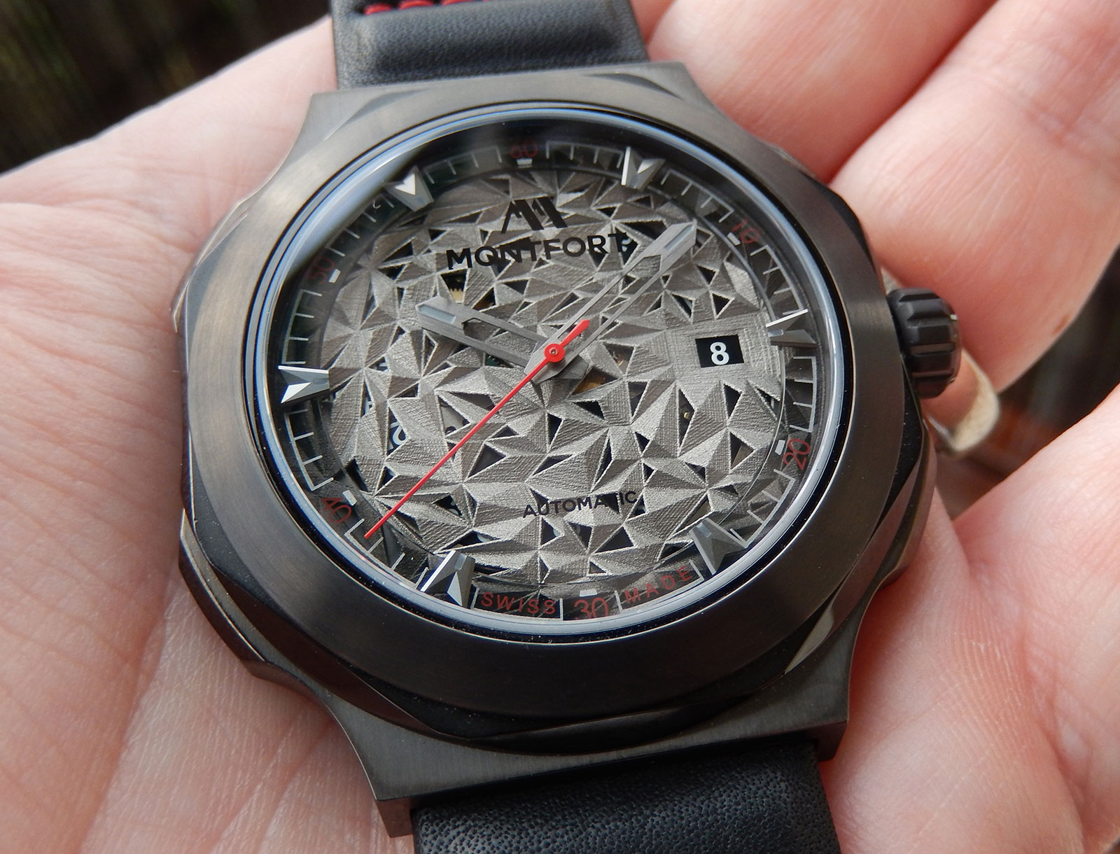 Montfront Strata watch 3D printed dial 1