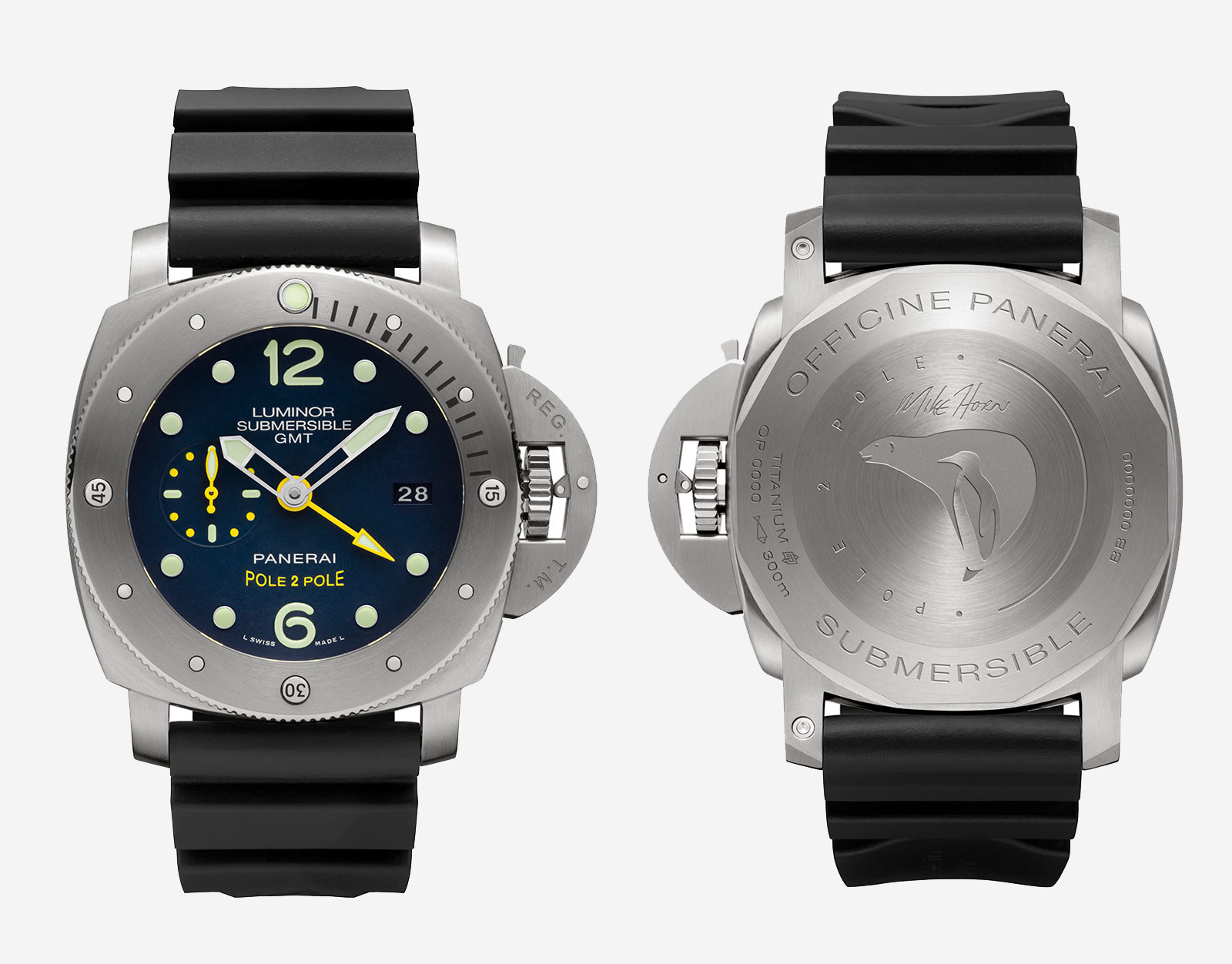 Panerai Luminor Submersible 1950 GMT PAM719 Mike Horn 1a